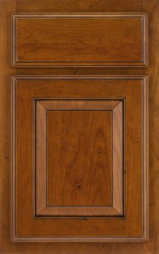 Briarwood Raised Panel cherry Harvest Bronze Ebony Glaze and Highlight Legacy Distressing