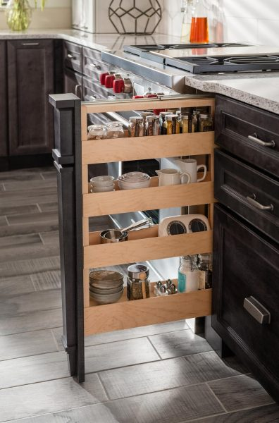 Medallion Cabinetry Base Pull Out Spice Rack With