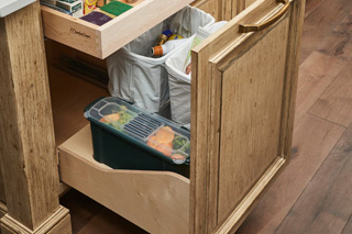 Waste, Recycling, and Compost Kitchen Cabinet