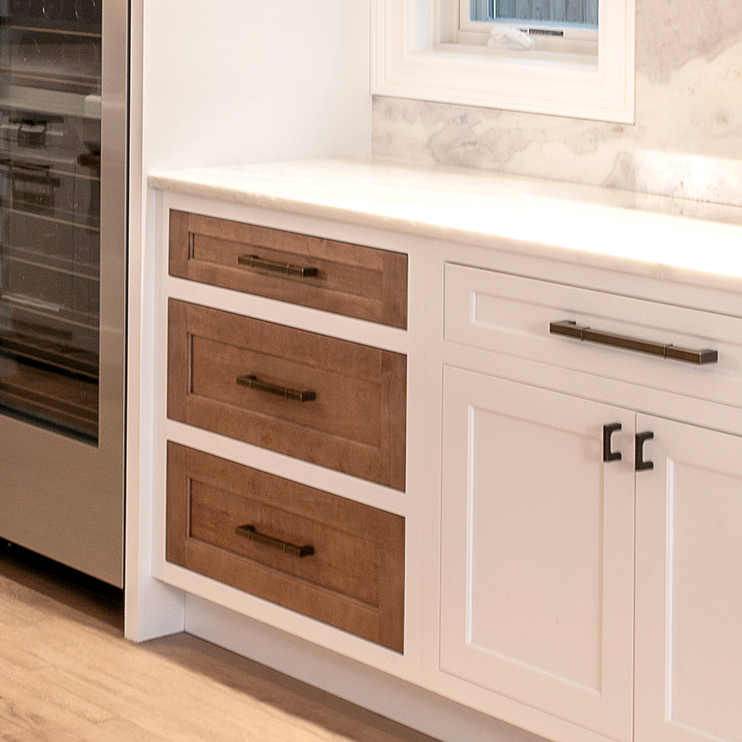 Two-tone drawers